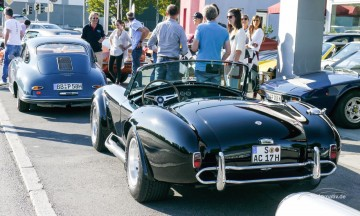 Cars and Coffee in Stuttgart Porsche 911 Ferrari Maserati Cobra Dodge Challenger VW