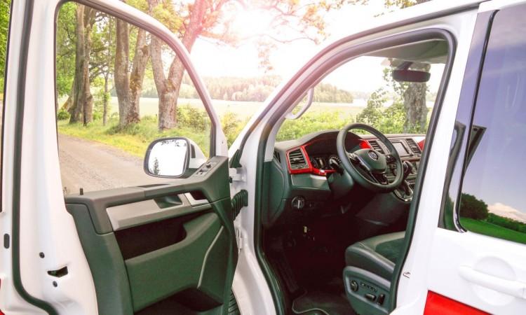 Die neue Innenraum-Architektur des VW T6.