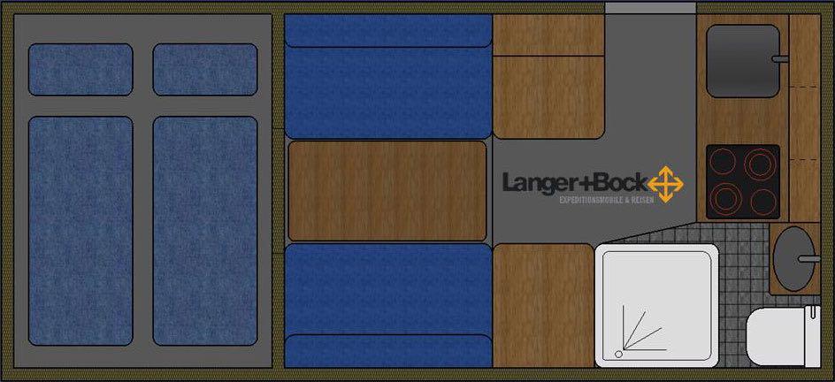 Langer + Bock Toyota HZJ 79 Innenaufteilung