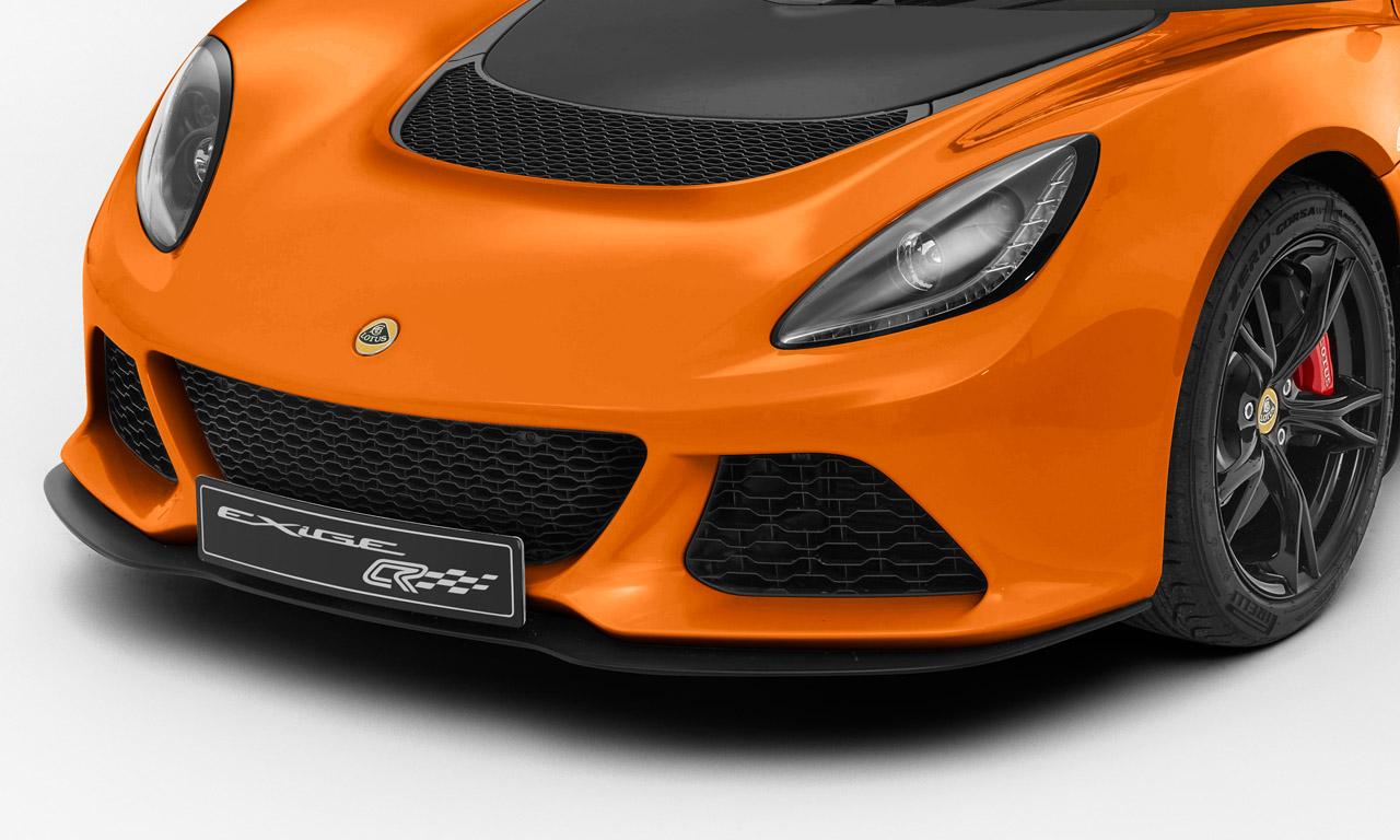 Ein neuer Frontspoiler für die Club Race-Variante des Lotus Exige S