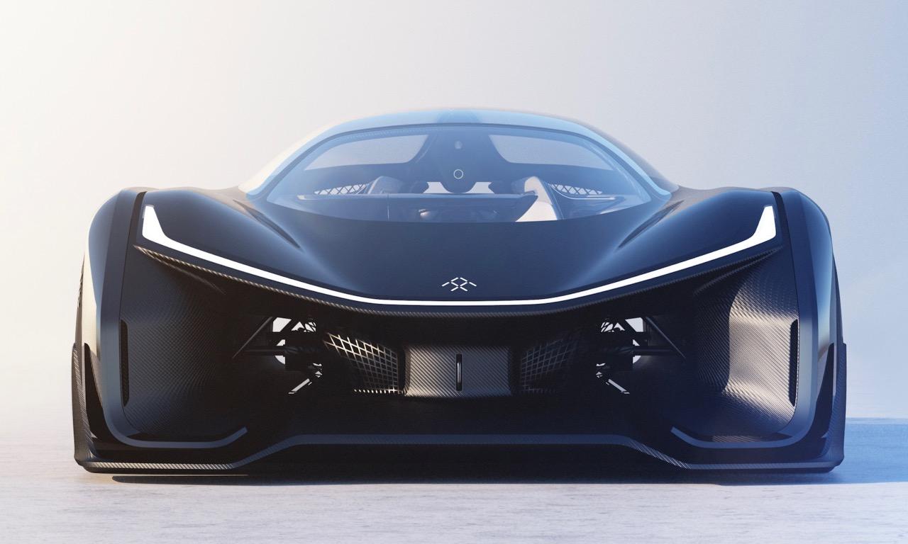Faraday Future FFZERO1 Sportwagen Konzept Concept CES Las Vegas 1000 PS Elektro Tesla Model S Rennwagen USA Automobil AUTOmativ Benjamin Brodbeck Design