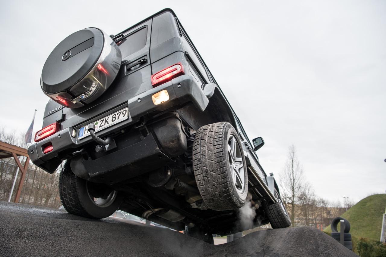 Mercedes-Benz G-Klasse bei einer Geländegängigkeits-Präsentation im Werk Bremen