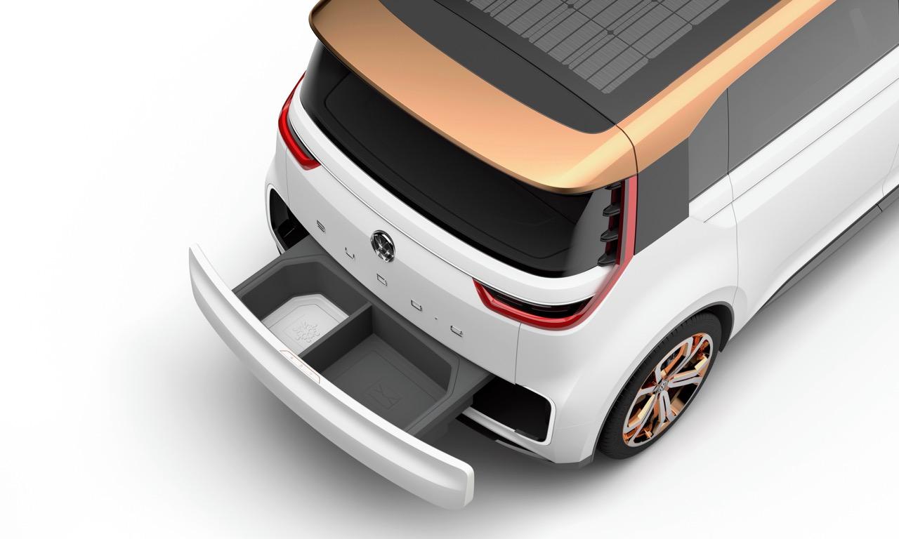 Der VW BUDD-e mit praktischem Stauraum