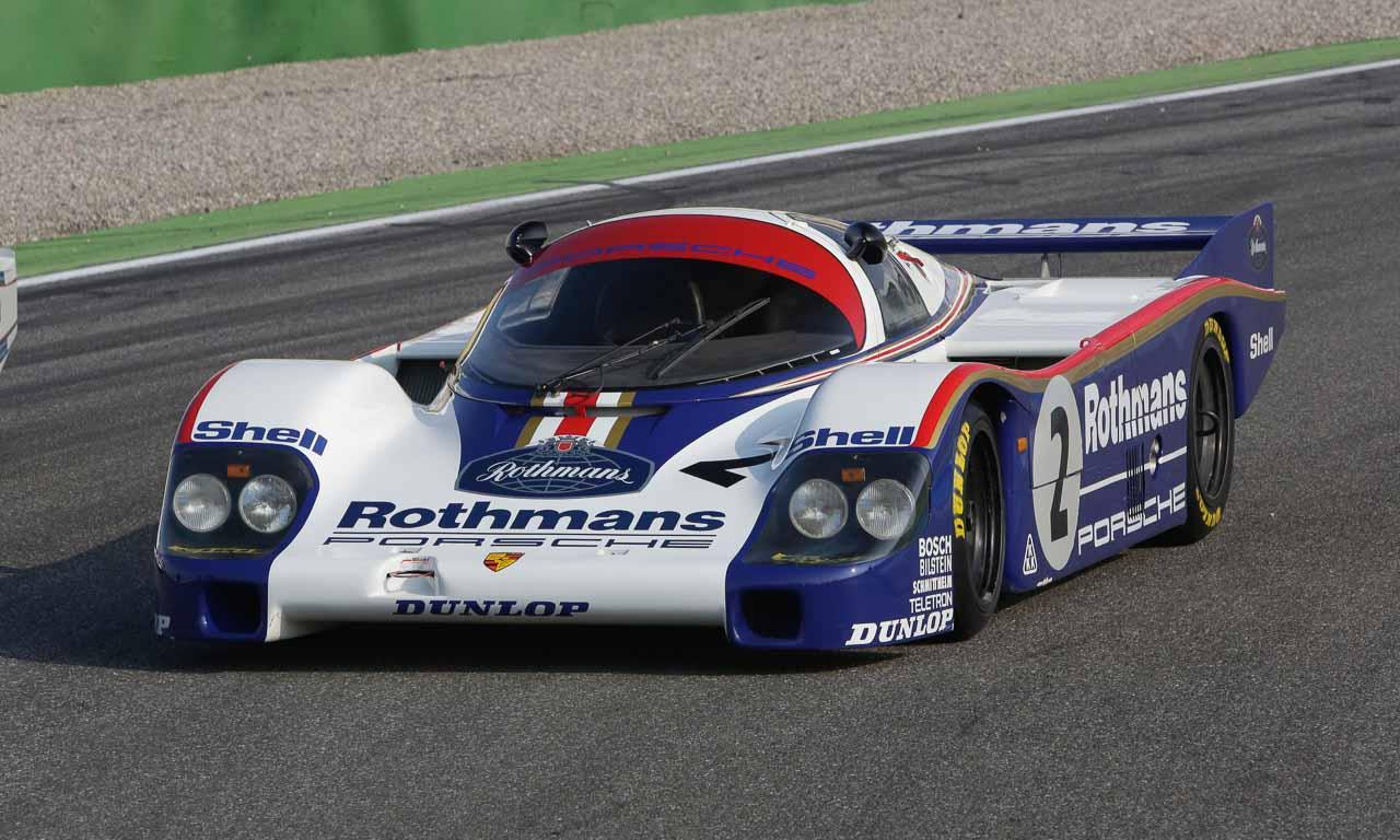 """Porsche 956 in Le Mans Peter W. Schutz Porsche in Le Mans Porsche Ducktails Tilman Brodbeck 4 - Porsche mit """"Museums Rennfahrzeugen 956 Gruppe C"""" bei den 24 Stunden von Le Mans 1983"""