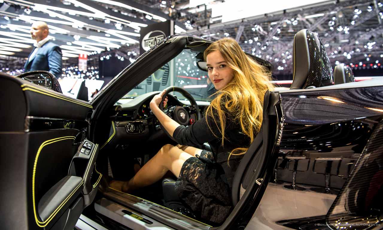 Rebekka im TechArt Turbo Cabriolet