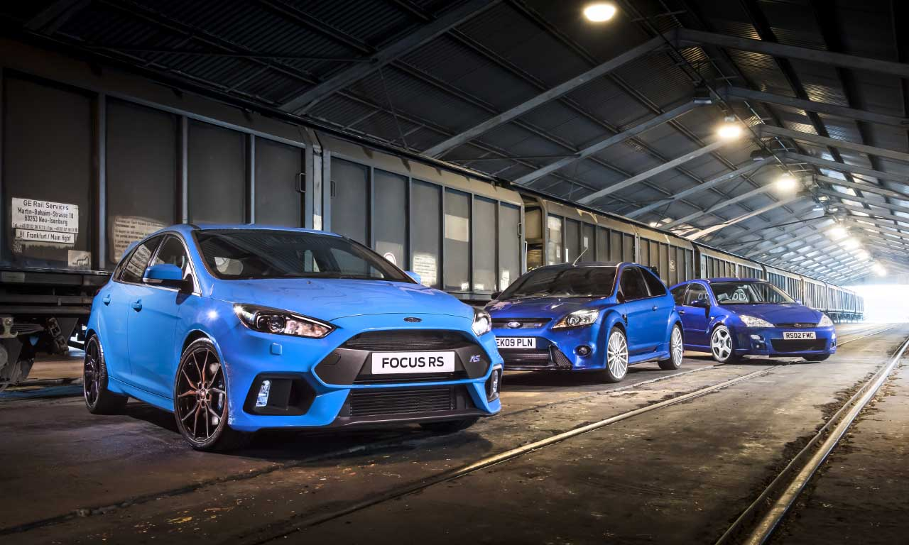 Focus RS Mk3, Mk2 & Mk1Photo: James Lipman