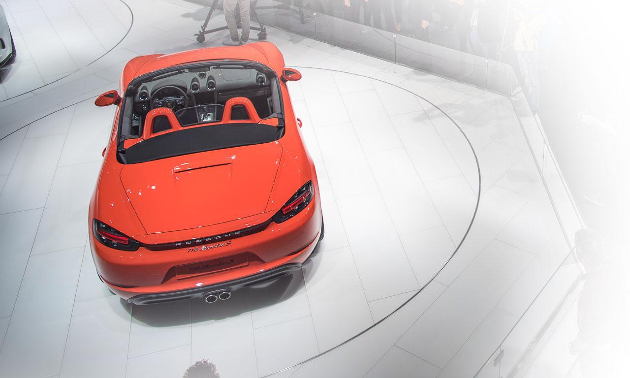Porsche 718 Boxster auf dem Autosalon in Genf 2016, AUTOmativ.de, Porsche & Ducktails, Tilman Brodbeck, Benjamin Brodbeck, Genf, Roadster, Porsche 718, Porsche, Porsche Roadster, Porsche Cayman, Porsche 911 R