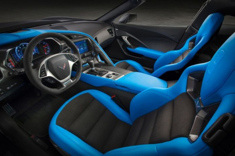 Das Interieur der frei saugenden Corvette