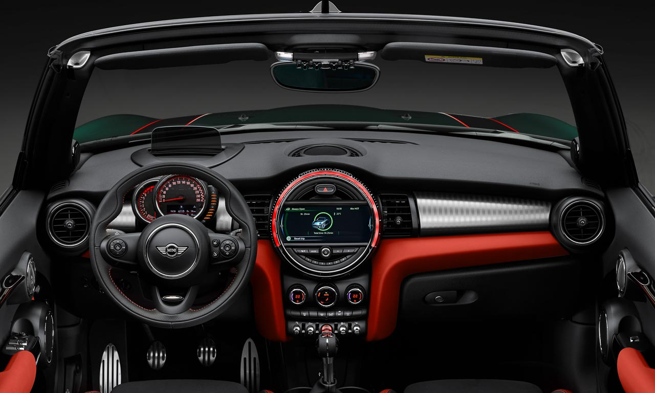 die details des mini john cooper works cabrio automativ. Black Bedroom Furniture Sets. Home Design Ideas