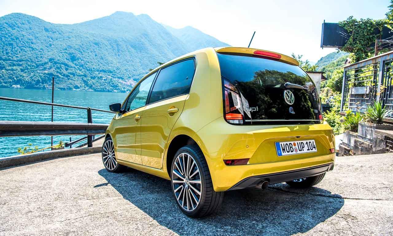 Neuer 2017 VW up im Test im Fahrbericht in Mailand und am Comer See Volkswagen up getestet von AUTOmativ.de Benjamin Brodbeck
