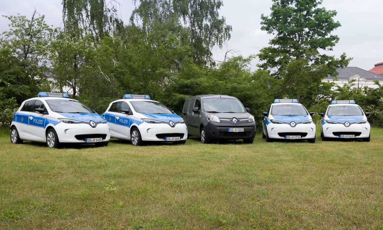 Renault Zoe fuer die Polizei Sachsen AUTOmativ.de Benjamin Brodbeck - Für noch härtere Verfolgungsjagden: Polizei Sachsen bekommt 15 Renault Zoe