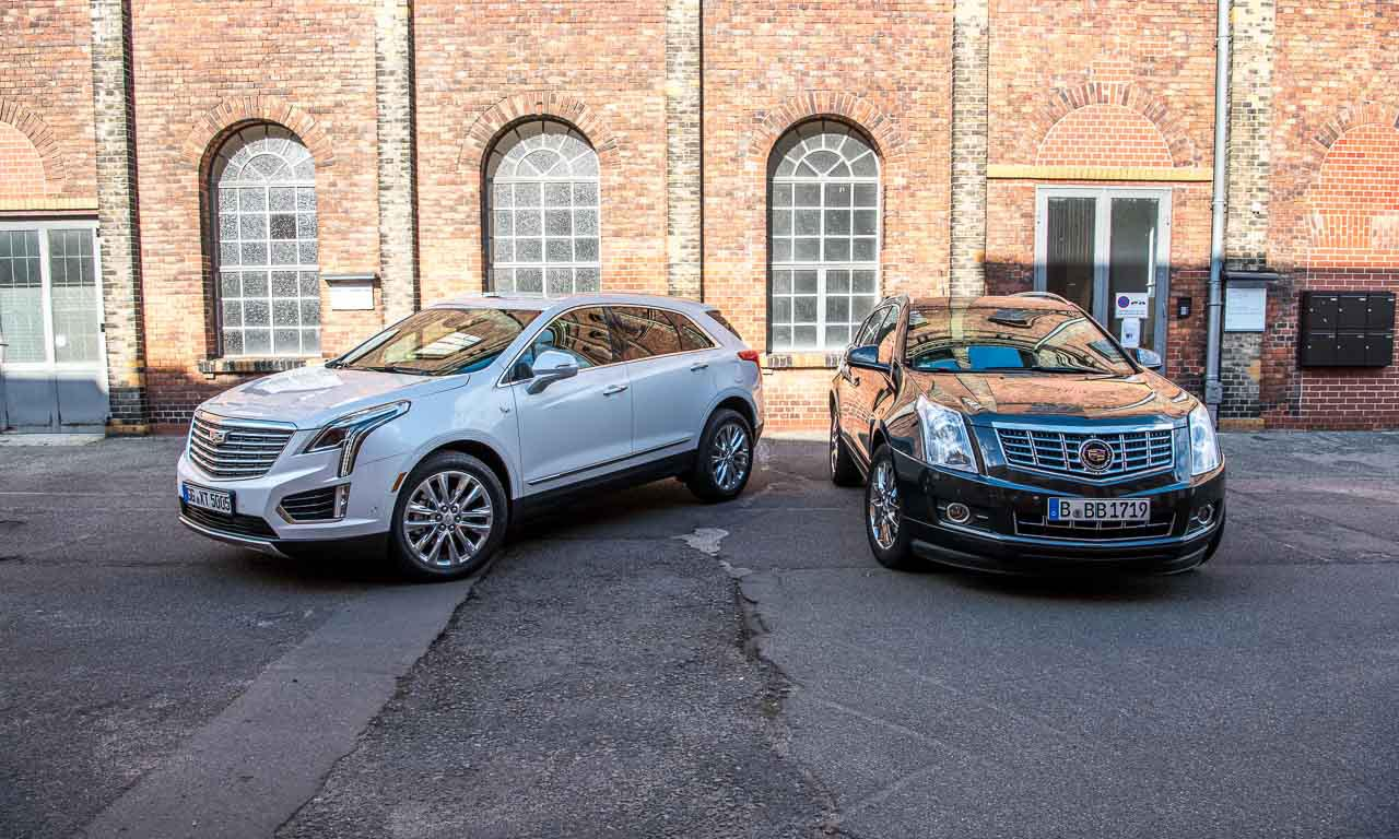 Der Cadillac SRX (rechts) ist der Vorgänger des XT5 (links).