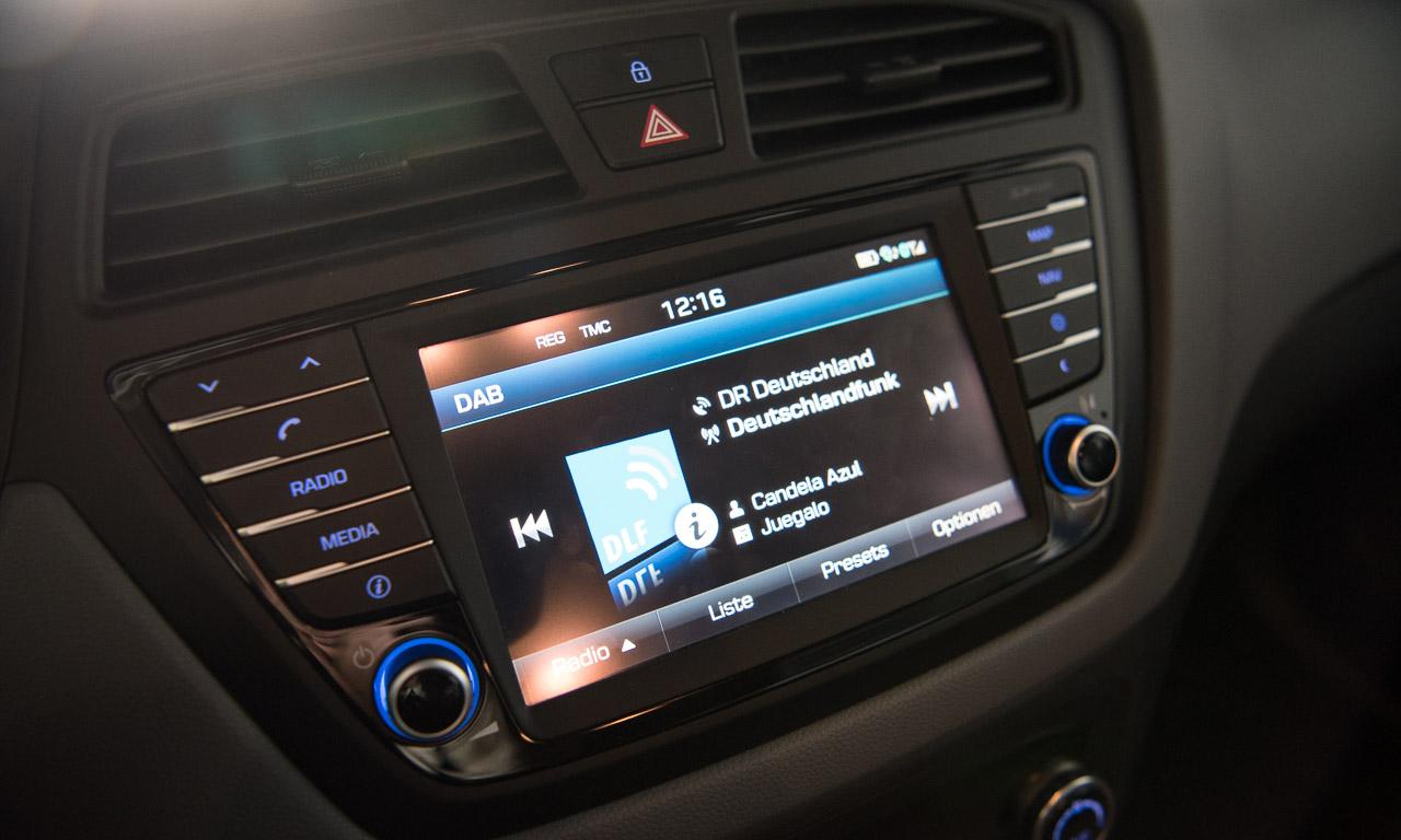 Digitalradio beim Multimedia-System im neuen Hyundai i20 Active