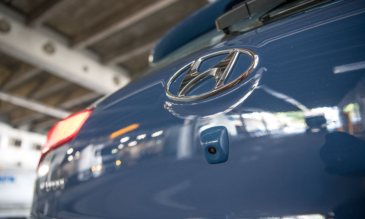 Die Rückfahrkamera des neuen Hyundai i20 Active.