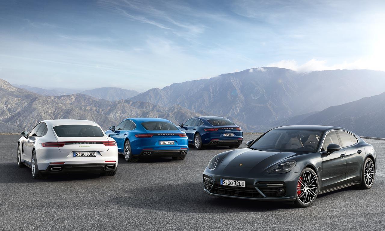 Vier Modelle gibt es jetzt schon vom jüngst vorgestellten neuen Porsche Panamera: einen Allrad-V8-Diesel (schnellste Serien-Diesel-Limousine der Welt), einen 4S-Benziner, eine Turbo-Version und einen Hybrid.
