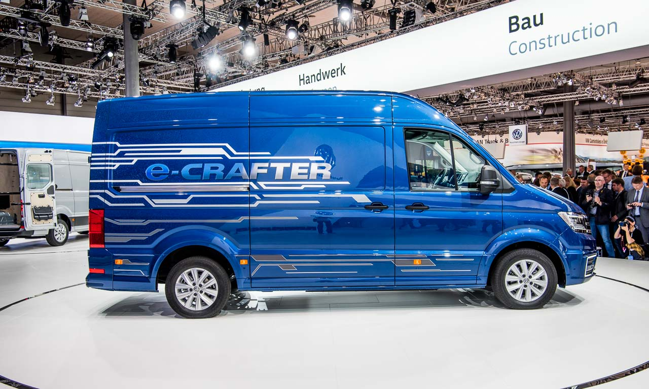 volkswagen e crafter kommt mit 200 kilometern reichweite schon 2017 das auto. Black Bedroom Furniture Sets. Home Design Ideas