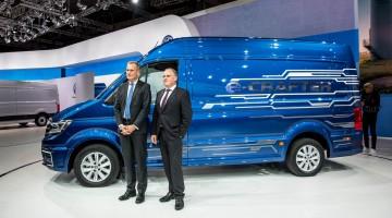 Volkswagen e-Crafter kommt mit 200 Kilometern Reichweite schon 2017