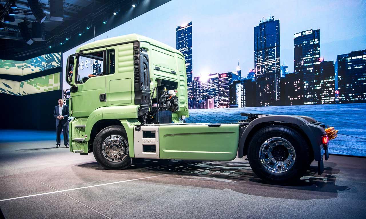 Ein rein elektrisch fahrender Truck! Ok, noch keine 500 Kilometer Reichweite, aber es wird.