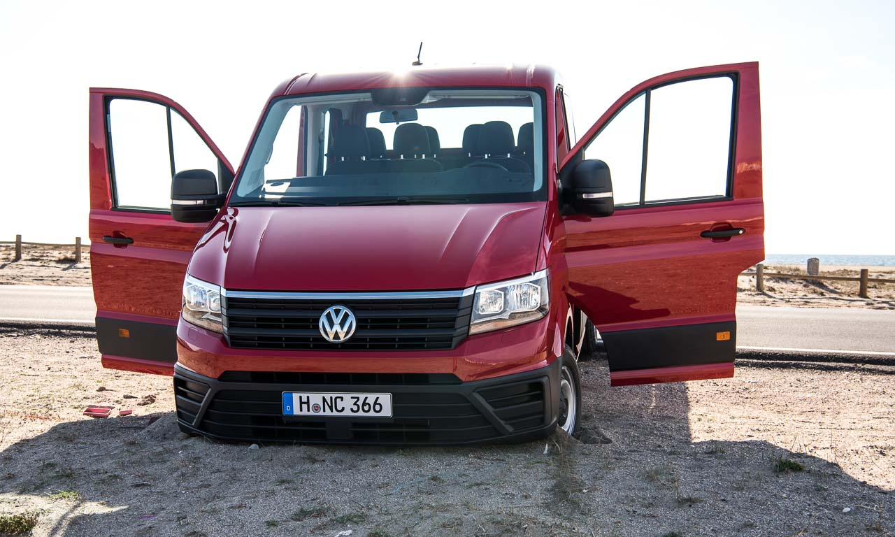 vw crafter ii erste fahrt im neuen jumbo volkswagen das auto magazin. Black Bedroom Furniture Sets. Home Design Ideas