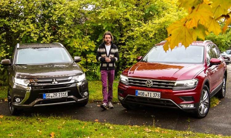 SUV-Hybrid Outlander und VW Tiguan: Vorstadt-Held oder Langstrecken-Meister?