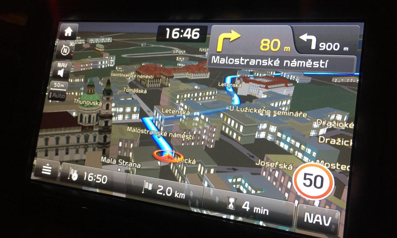 3D-Darstellungskarten, die von TomTom gepflegt und geupdated werden.