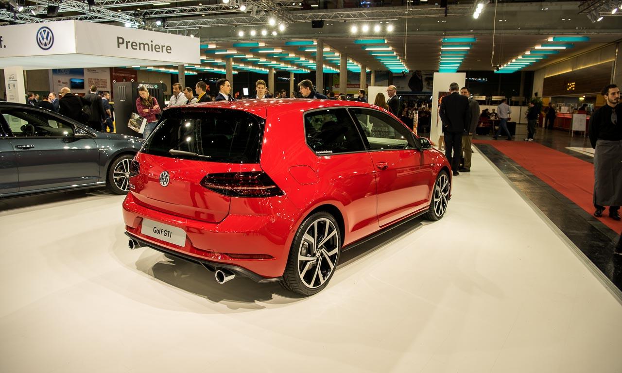 Der neue VW Golf GTI in der siebten, aber gefacelifteten Generation auf der Vienna Auto Show 2017