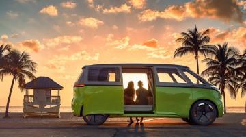 Volkswagen I.D. Buzz: Wir alle wollen romantische Elektrobus-Sonnenuntergangs-Momente!