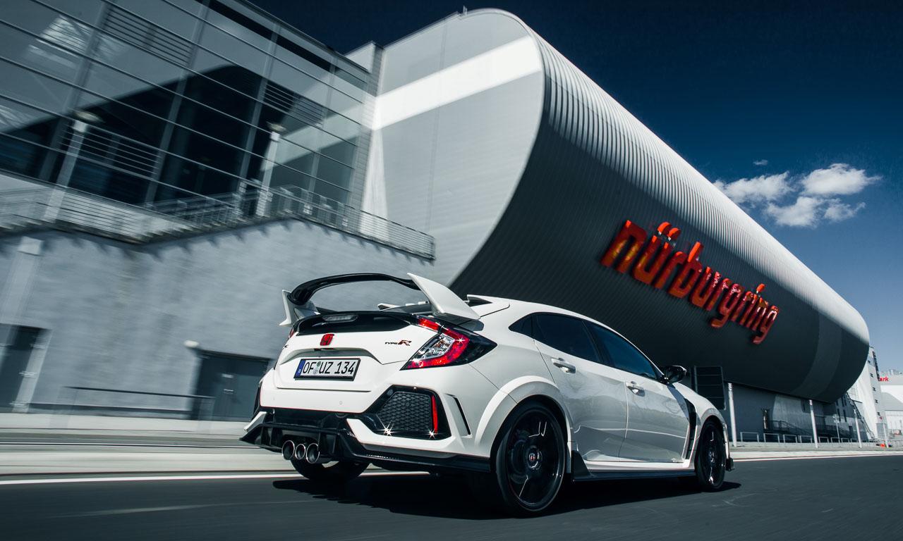 Honda Civic Type R Rundenrekord Nordschleife AUTOmativ.de  - Schneller als Clubsport S: Honda Civic Type R mit neuem Nordschleifen-Rekord!