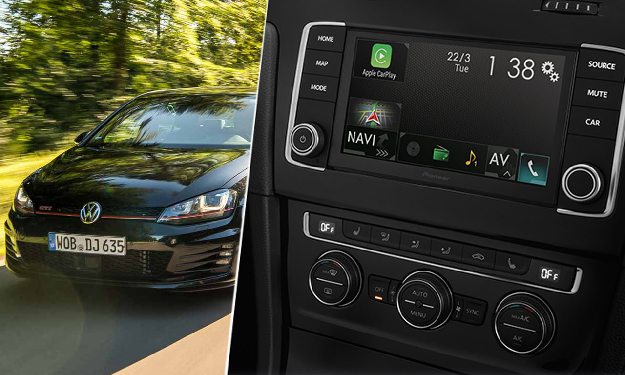 infotainment upgrade f r vw golf 7 pioneer navgate evo. Black Bedroom Furniture Sets. Home Design Ideas