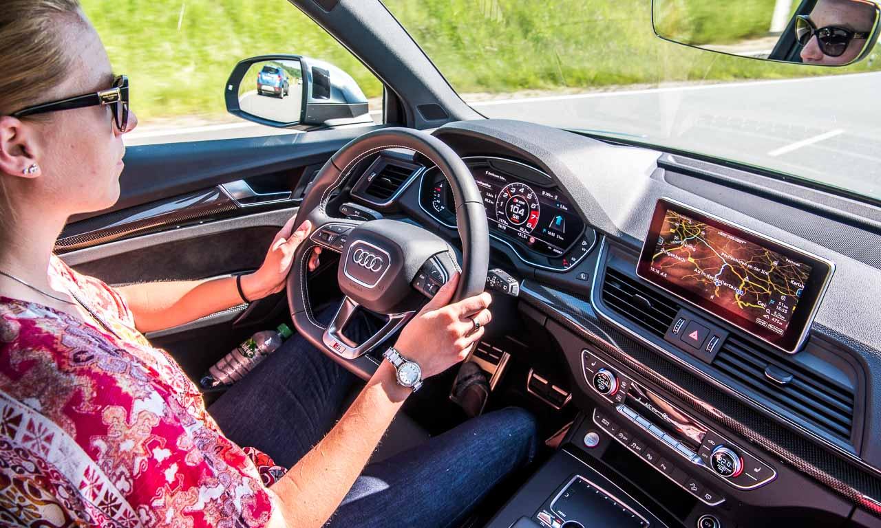 Audi S4, S5, SQ5? Irgendwie alles gleich - positiv gleich. Nur sitzt man hier eben etwas erhöht, die Performance-Qualitäten entkoppeln sich der Höhe.