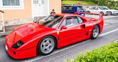 Partycrasher: Ferrari F40 beim GTI-Treffen 2017 am Wörthersee