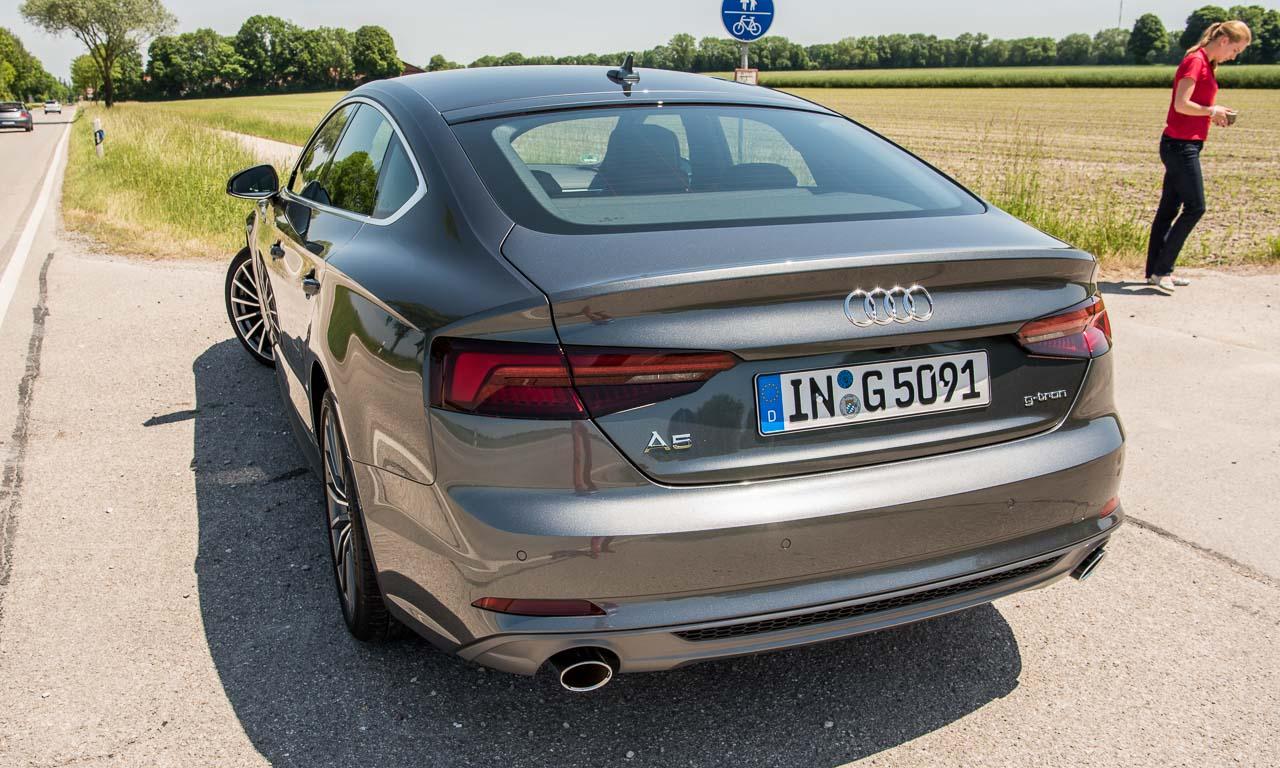 Audi A5 g tron 2018 4 - Test Audi A5 g-tron Sportback (2018): Jede Rose hat ihre Dornen