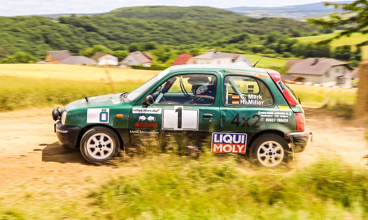 Merk Motorsport Rallye 2017 Nissan Micra AUTOmativ.de Constantin Merk Henry Miller Benjamin Brodbeck 1 6 - Unser Nissan Micra ist Dritter bei der Hombachtal-Rallye 2017 in Geisig!