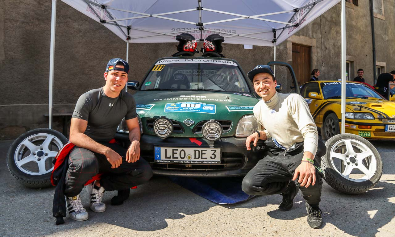 Merk Motorsport Rallye 2017 Nissan Micra AUTOmativ.de Constantin Merk Henry Miller Benjamin Brodbeck 2 - Mit unserem 150 Euro Nissan Micra heute zum Rallye-Pokal!