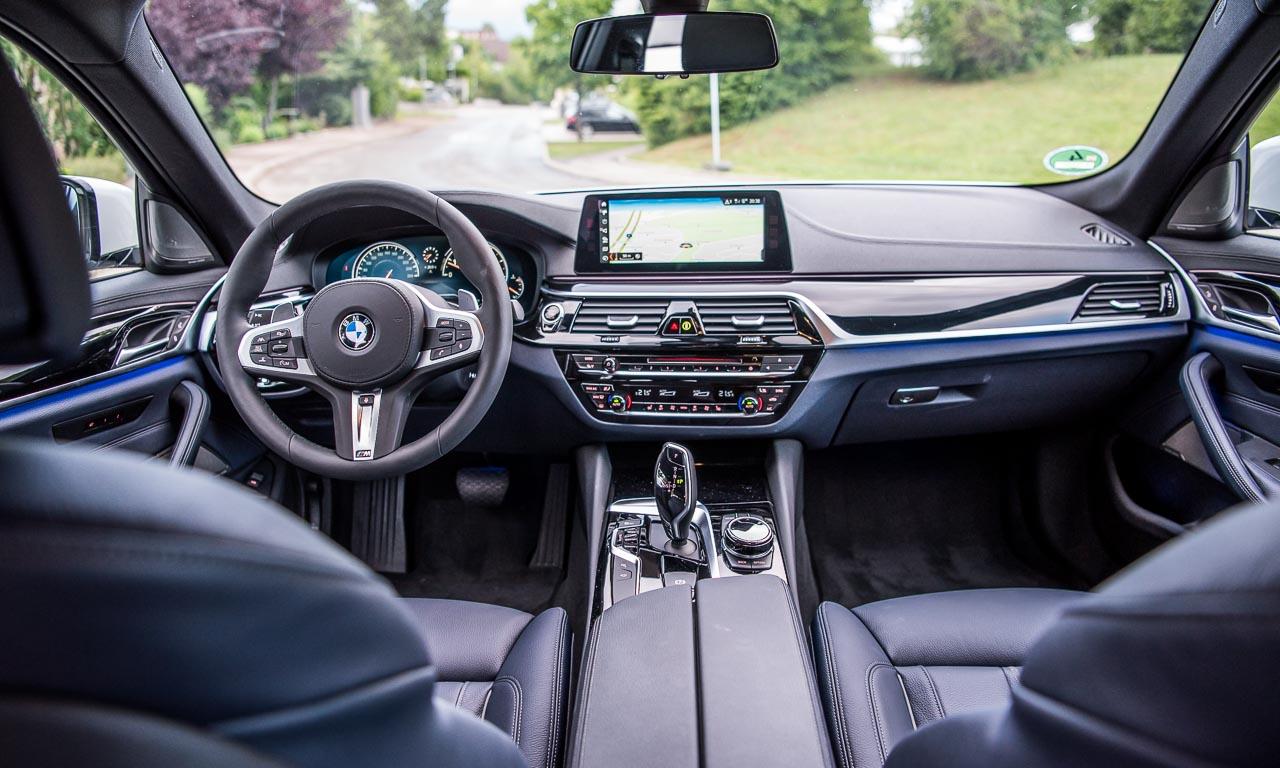 1BMW 5er 530i Sport Line Facelift 2017 252 PS 2.0 Liter im Test und Fahrbericht Review AUTOmativ.de Benjamin Brodbeck 5 - BMW 530i Sport Line (2017) im Fahrbericht: Luxuriöser Technologie-Kreuzer