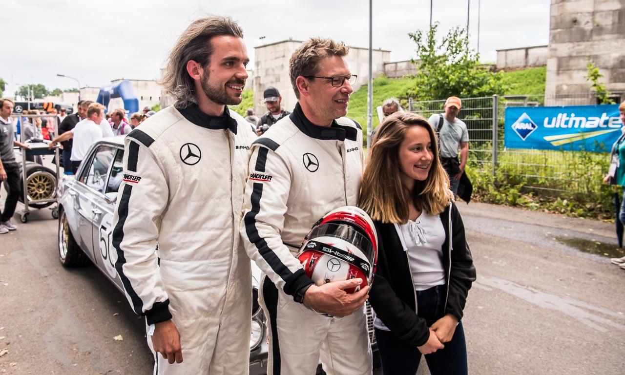 DTM Deutsche Tourenwagen Meisterschaft Norisring 2017 Petronas Nuernberg AUTOmativ.de Benjamin Brodbeck Mercedes AMG BMW Audi Sport SONNTAG 15 - An Bord des Mercedes 300 SEL AMG mit Formel 1-Safety-Car Legende Bernd Mayländer