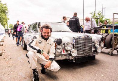 An Bord des Mercedes 300 SEL AMG mit Formel 1-Safety-Car Legende Bernd Mayländer