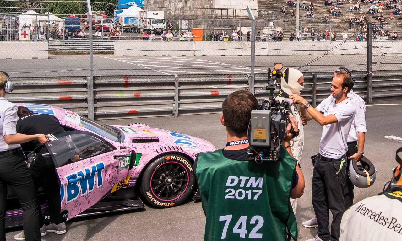 DTM Deutsche Tourenwagen Meisterschaft Norisring 2017 Petronas Nuernberg AUTOmativ.de Benjamin Brodbeck Mercedes AMG BMW Audi Sport SONNTAG 4 - Mitfahrt meines Lebens: Mit Daniel Juncadella im AMG C63 DTM über den Norisring