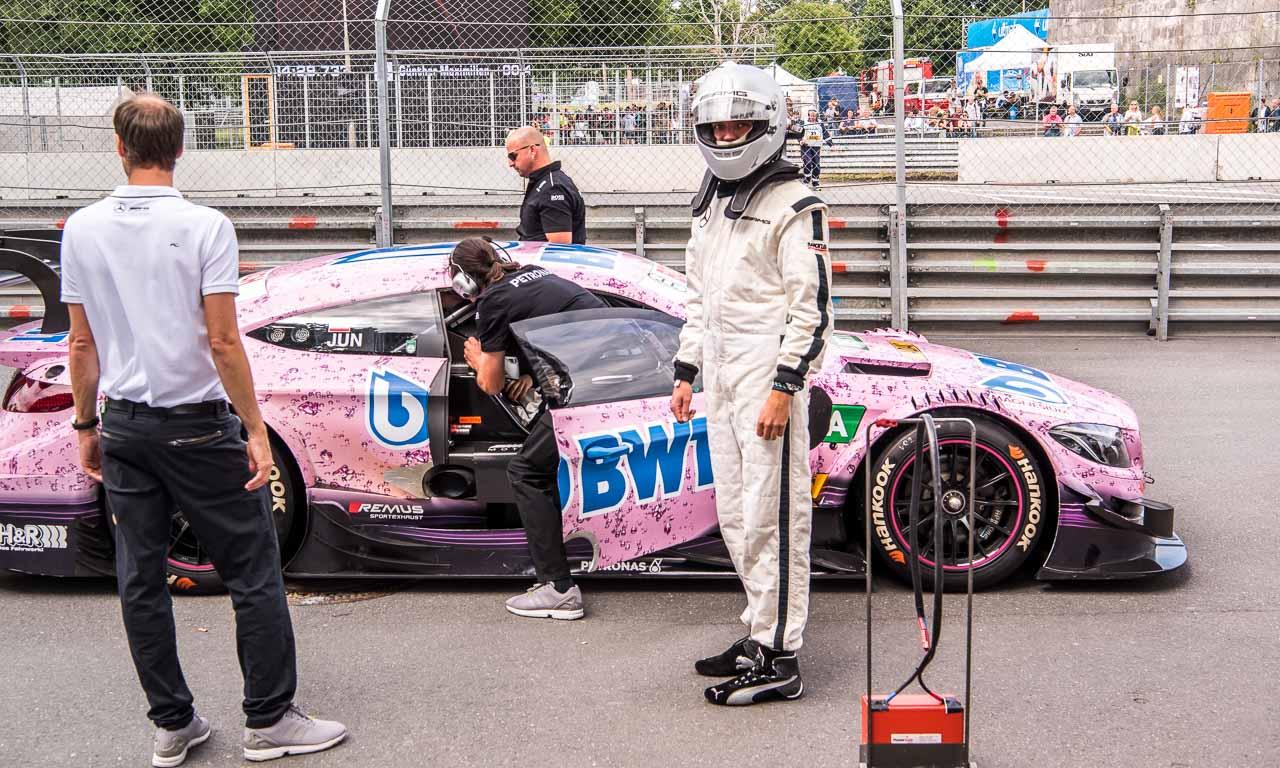 DTM Deutsche Tourenwagen Meisterschaft Norisring 2017 Petronas Nuernberg AUTOmativ.de Benjamin Brodbeck Mercedes AMG BMW Audi Sport SONNTAG 8 - Mitfahrt meines Lebens: Mit Daniel Juncadella im AMG C63 DTM über den Norisring