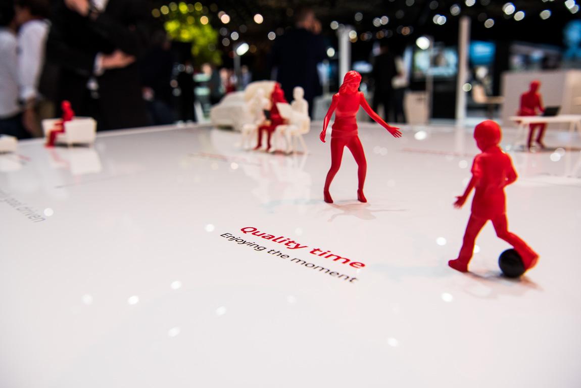 Mehr Zeit für Familie und Kinder: im Schnitt pro Tag eine Stunde soll Audi AI seinen Insassen zurückgeben.