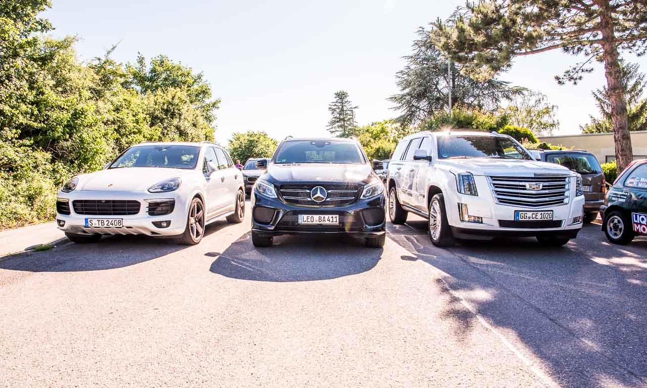 Porsche Cayenne oder Mercedes-Benz GLE sind große SUV? Schon. Im Vergleich zum Cadillac Escalade aber eher .. süß.