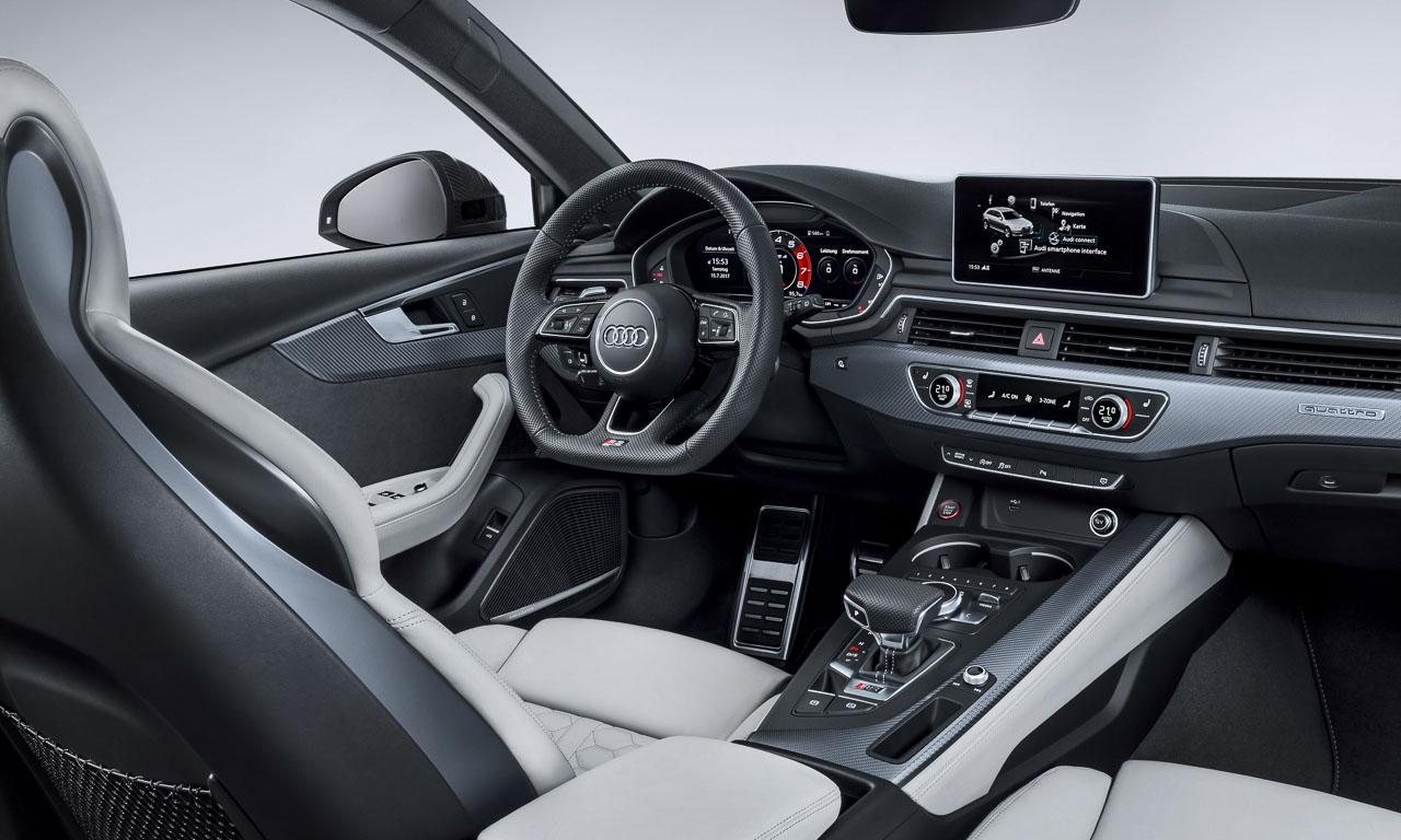 Das Interieur ist nahezu das gleiche wie beim Audi RS5.