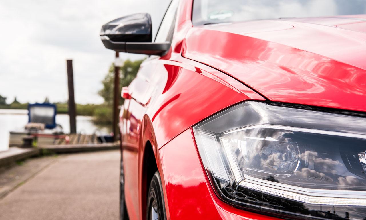 VW Volkswagen Polo 2018 Beats Highline Test Fahrbericht Review AUTOmativ.de Benjamin Brodbeck Rot 10 - Neuer VW Polo Beats mit 115 PS im Fahrbericht: Hat alles, kann alles
