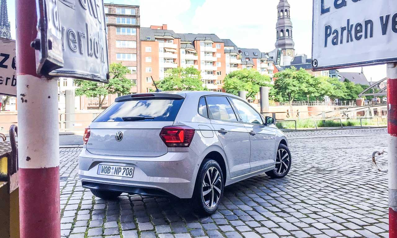 VW Volkswagen Polo 2018 Beats Highline Test Fahrbericht Review AUTOmativ.de Benjamin Brodbeck Whitesilver 2 - VW Polo Beats 1.0 (95 PS) im Test: Heißer Lauttreter mit analogem Tacho #NewPolo