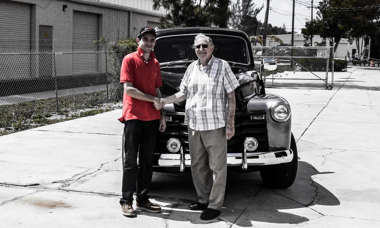Peter W. Schutz und ich bei meinem zweiwöchigen Besuch in Florida.