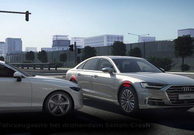 So rettet die futuristische Technik des neuen Audi A8 Ihr Leben beim Seitenaufprall