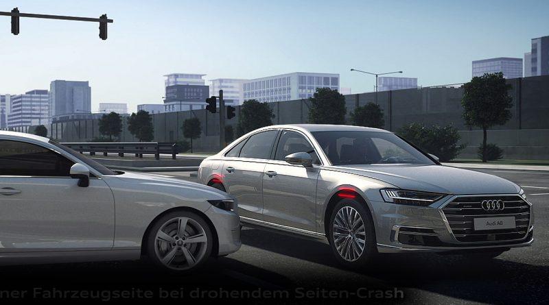 Audi A8 Seitenaufprall Assistent 800x445 - So rettet die futuristische Technik des neuen Audi A8 Ihr Leben beim Seitenaufprall