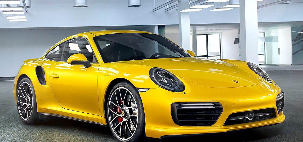 Diese gelbe Lackierung gibt es für 9.000 Euro für Porsche 911 Turbo Modelle