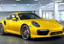 Porsche 911 Turbo in Saffran Gelb Metallic Saffran Yellow Metallic AUTOmativ.de Benjamin Brodbeck Porsche Exclusive 130x90 - Der optisch perfekt zu Papst Franziskus passende Lamborghini Huracán wird versteigert
