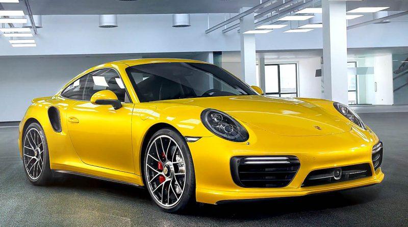 Porsche 911 Turbo in Saffran Gelb Metallic Saffran Yellow Metallic AUTOmativ.de Benjamin Brodbeck Porsche Exclusive 800x445 - Diese gelbe Lackierung gibt es für 9.000 Euro für Porsche 911 Turbo Modelle